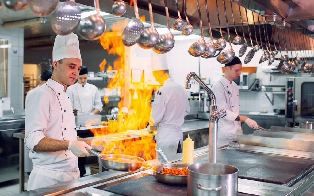 spodnie kucharskie